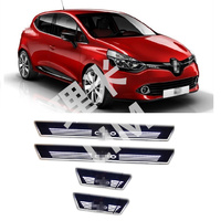 Suitable for Renault CLIO IV CLIO 4 Year 2014 2015 2016 LED Moving Light Scuff Plate Door Sill Cover Car Accessories