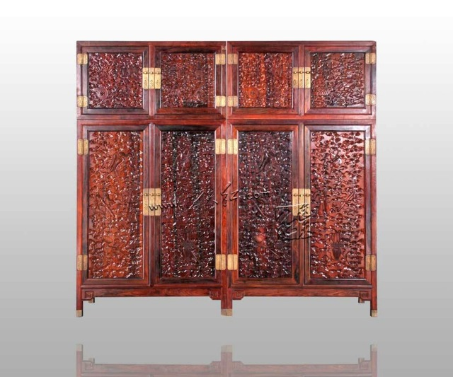 New Classical Antique Chinese style Rosewood Wardrobe Home Bedroom Solid  Wood Furniture Flat Sliding Door Closet - New Classical Antique Chinese Style Rosewood Wardrobe Home Bedroom