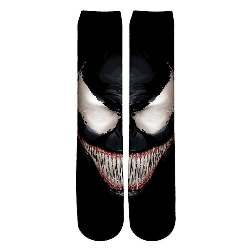 PLstar Cosmos NEW Movie Spiderman Venom Villain Skull   Socks   Street Cosplay Comics Women Men   Socks   Party Novelty Funny Party-5