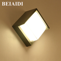 BEIAIDI 6W Waterproof LED Wall Light Outdoor Surface Wall Mouted Led Sconce Light Aluminum Wall Lamp