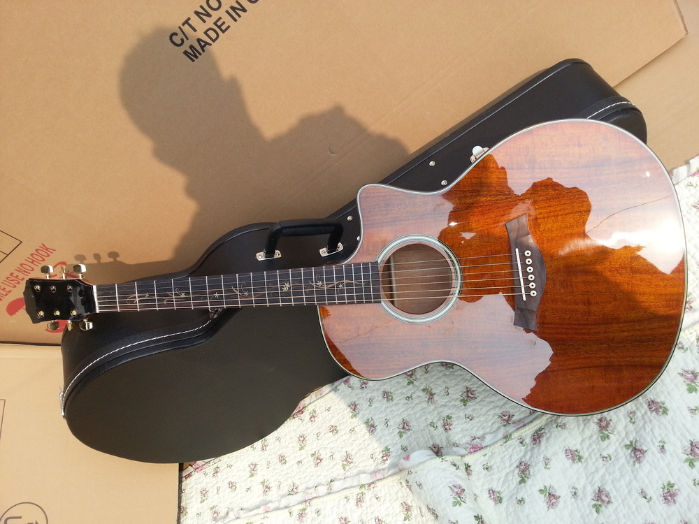 Solid KOA TOP wood K24 acoustic guitar Chaylor KOA K24ce electric acoustic guitar solidwood koa top
