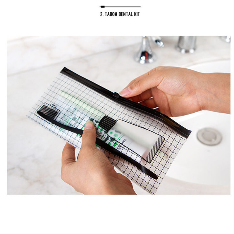 PVC Transparent Toothbrush Cosmetic Bag Women Travel Makeup Bag Organizer Storage Pouch Pencil case Toiletry Wash Kit Case 1