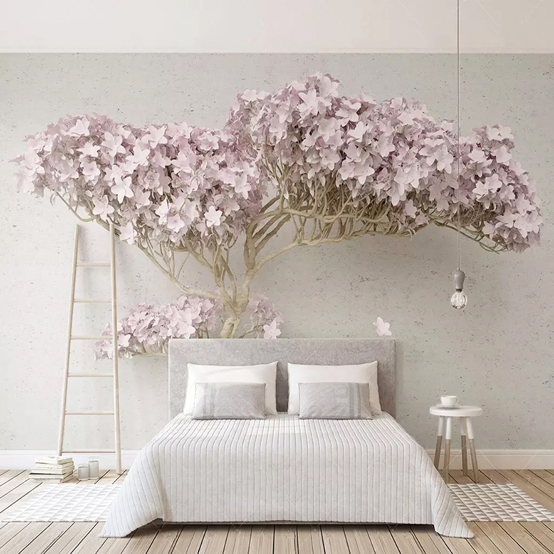 Custom Any Size Mural Wallpaper Modern Purple Tree Photo Wall Paper Living Room TV Sofa Bedroom Background Wall 3D Drop Shipping
