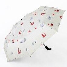 Зонты Rian женские с черным покрытием женские зонты студенческие зонты с животными для мужчин солнечный и дождливый зонтик Paraguas анти УФ