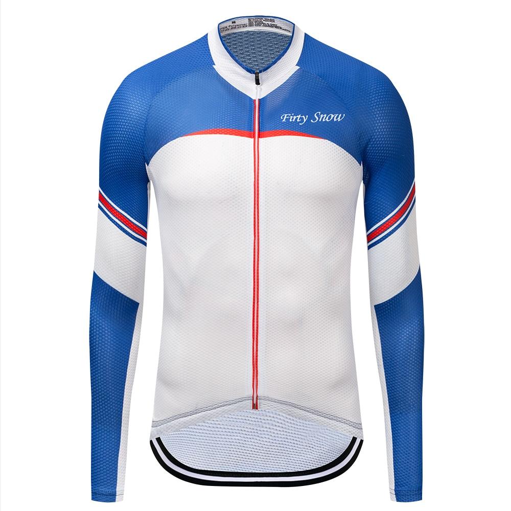 Firty Snow Cycling Jersey Long Sleeve Men Pro Team Biking Clothing Riding MTB Bicycle Jerseys Sports Top XS-XXXXL
