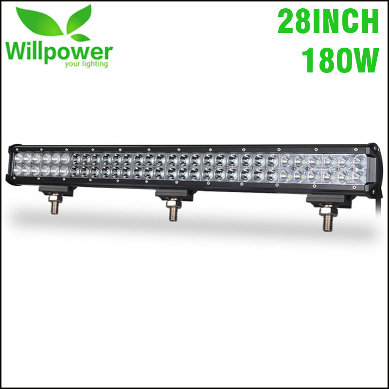 28 inch OffRoad LED Work Light Bar with High Quality LED Chips 180W Combo Spot Flood