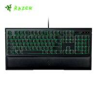 Razer Ornata мембранная игровая клавиатура 104 ключей зеленый черный свет с средней высоты брелки для запястья с эргономичным дизайном