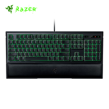 Razer Ornata Membrane Gaming Keyboard 104 Keys Green Blacklight With Mid-Height Keycaps Wrist Rest With Ergonomics Design