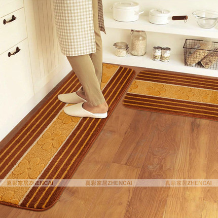 Kitchen Carpets Rolling Carts 45 120cm And Rugs Floral Waterproof Blankets Throw Free Shipping