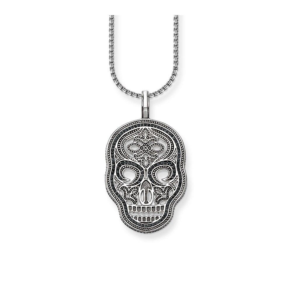 Argent noir Pave noeud chinois crâne masque colliers et pendentifs 2018 mode squelette pendentif collier bijoux cadeau pour femmes hommes