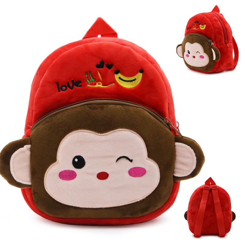 4-Colors-Plush-Backpacks-Cartoon-Kids-School-Bags-Toys-Cute-Animal-Lovely-Kindergarten-Children-Storage-Box-Doll-1-3-Year-old-4
