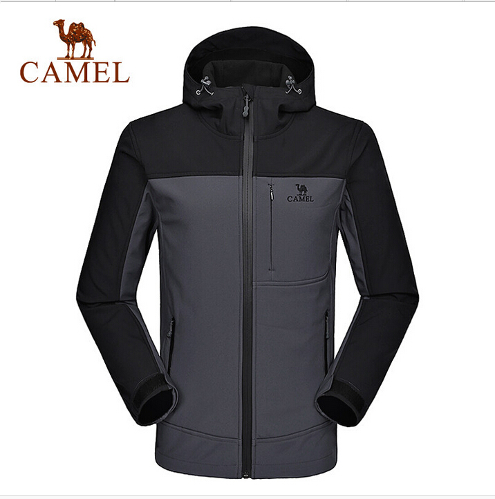 Camel Men's Softshell 2016 Outdoor Winter Autumn Camping&Hiking Windbreaker Waterproof Jackets A6W218116