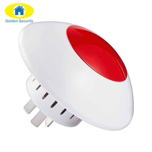 Golden security alarm flash horn wireless flashing siren red light golden security alarm flash horn wireless flashing siren red light strobe siren 433 mhz suit for aloadofball Image collections