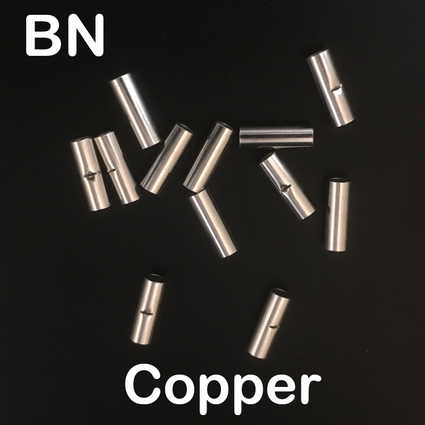 цена на BN5.5 BN8 BN14 BN22 BN38 Copper Tin Plated Connector Non-Insulating Naked Cable Ferrule Sleeve Tube Lug Cord End Crimp Terminal