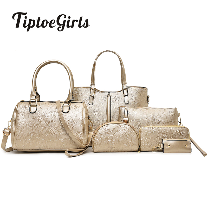 The New Fashion Simple Mother Bag Six Sets of Wild Handbags Casual Ladies Portable Shoulder Bag