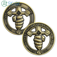 50/100/pcs Special Forces Challenge Coin Psalm 144:1 Sword of the Spirit Who Trains My Hand for War Military Coins Collectibles