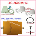 4G FDD 2600MHz Cell Phone Repeater 65db Gain 4G LTE 2600mhz Mobile Signal Booster Amplifier Kit with 2 indoor+1 outdoor Antenna
