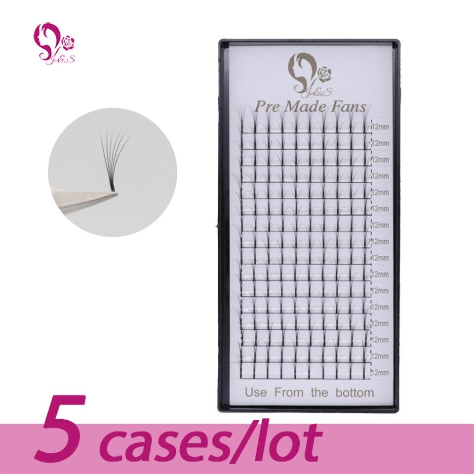 J & S предварительно сделанный фен для придания объема 16 линий 3D наращивание ресниц 5 случаев искусственная норковая ресницы натуральные 0,07 м...