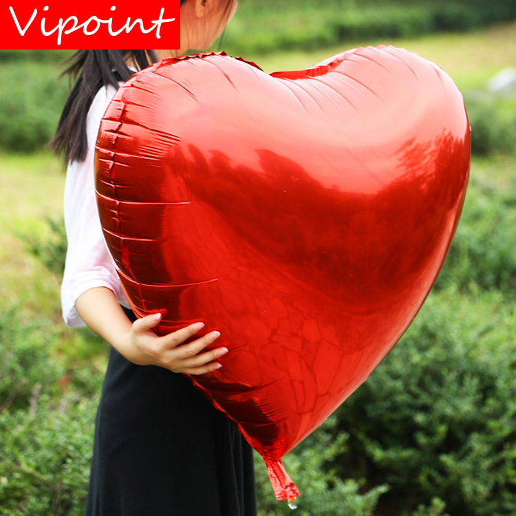VIPOINT PARTY 12inch love heart foil balloons wedding event christmas halloween festival birthday party HY-114