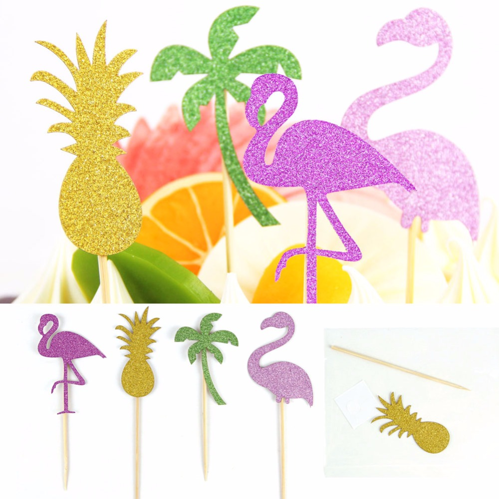 25pcs Hawaii Summer Party Decoration Balloons Flamingo Pineapple Paper Pleated Fans Photo Props Birthday Wedding Party Decor in Party DIY Decorations from Home Garden