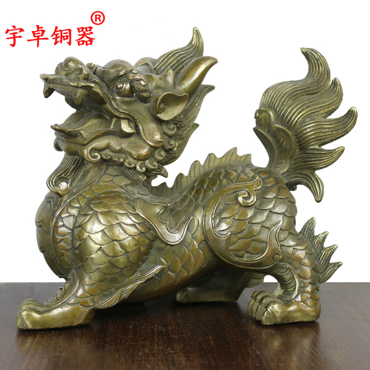 Yu Zhuo a fortune of bronze copper kylin kylin copper crafts decorative decoration Home Furnishing OfficeYu Zhuo a fortune of bronze copper kylin kylin copper crafts decorative decoration Home Furnishing Office