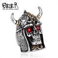 Beier nueva tienda de acero inoxidable 316l anillo de los hombres del estilo chino br8-245 jounery para west bull rey demonio anillo dominante de la vendimia