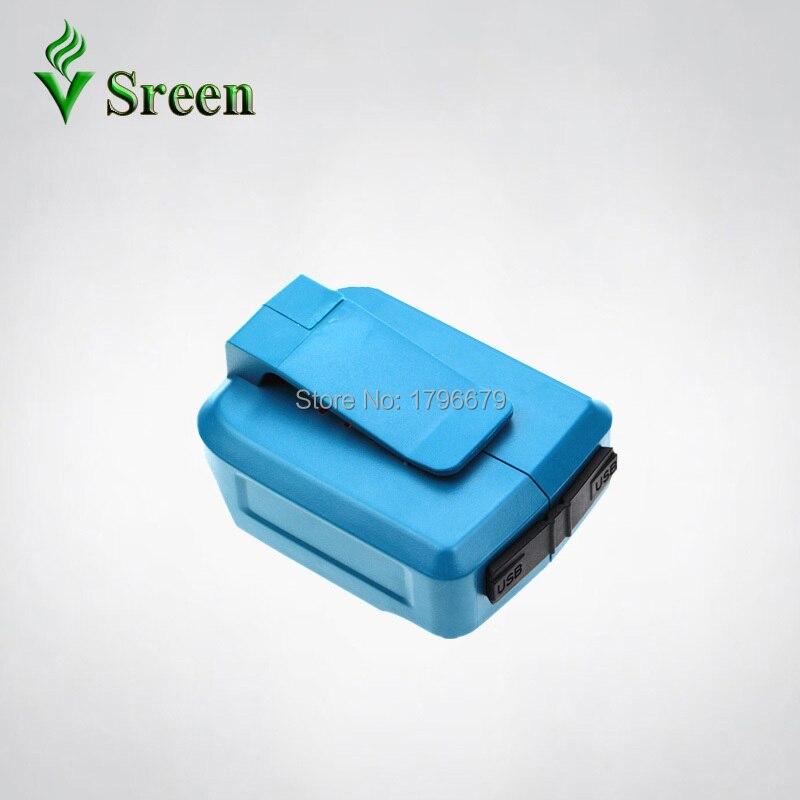 Dual USB Порты и разъёмы Зарядное устройство Перезаряжаемые литий-ионный Мощность инструмент Батарея конвертер адаптер для Makita 18 В BL1830 BL1840 BL1850 ...