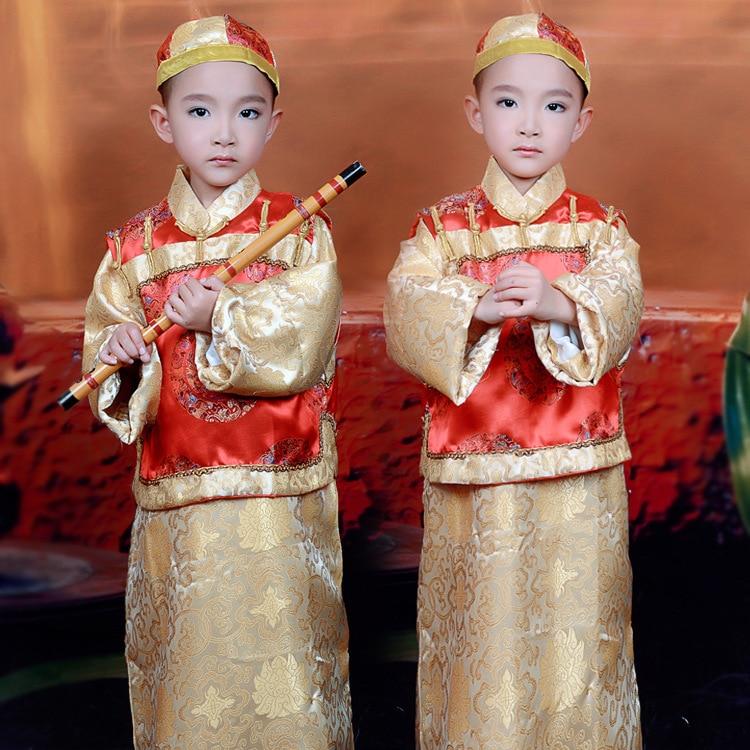 3 kos oblačila + telovnik + kapa kitajski tradicionalni kostum princ - Odrska in plesna oblačila
