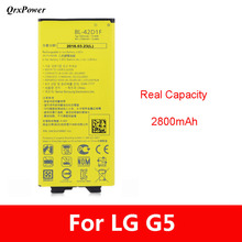 QrxPower Original BL-42D1F Mobile Phone Battery for brand LG g5 VS987 H820 H830 LS992 2800mAh  Replacement Li-ion