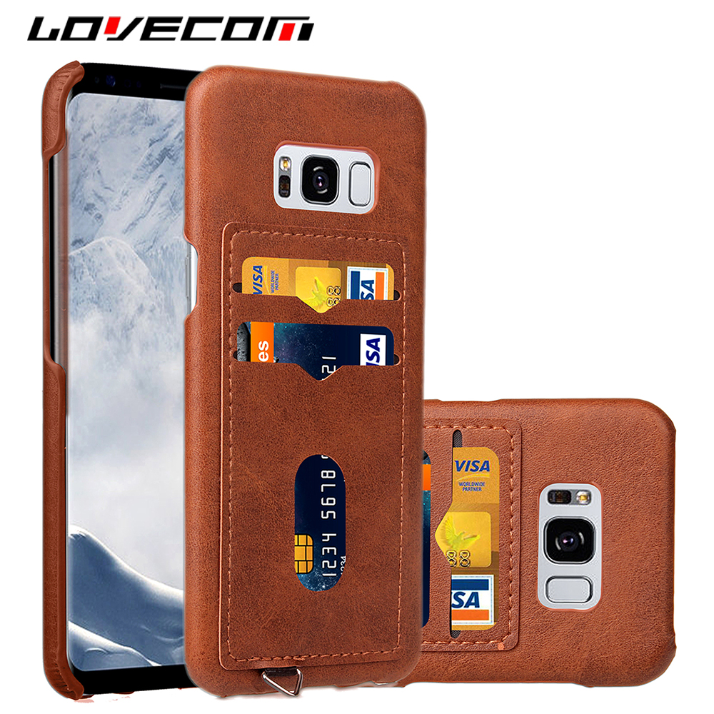 LOVECOM Luxury Leather Card Holder Case Cover For Coque Samsung Galaxy S8 / S8 Plus For Iphone 6 6S 7 Plus Phone Cases Shell Bag