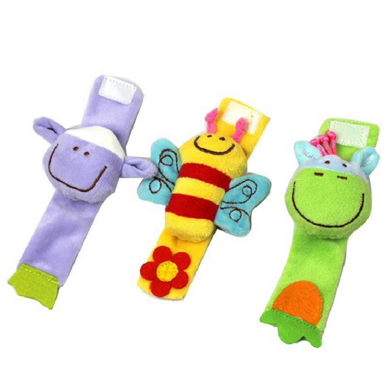 New 1pcs Baby Toy Baby Wrist Strap Toy Cute Cartoon Animal