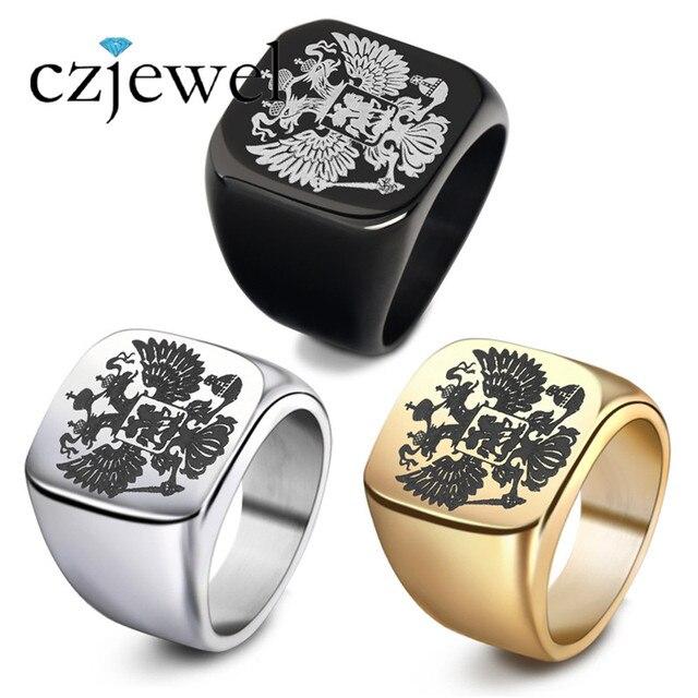8dc2b834cca8 Нержавеющая сталь солдат Орел кольцо Для мужчин кольцо Модные украшения для  Для мужчин гербовым Российской перстень