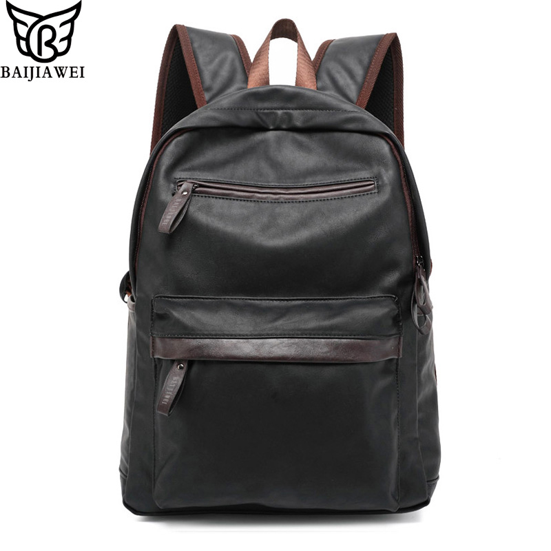 2016 New Arrival Genuine Leather Backpack For Men Western College Style Bags Men S Casual Backpack