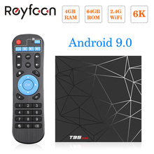 T95 MAX Android 9,0 tv Box 4 Гб 64 Гб Allwinner H6 quad core 6 K H.265 USD3.0 Wifi HDR поддержка проигрыватель google Youtube Smart tv Box