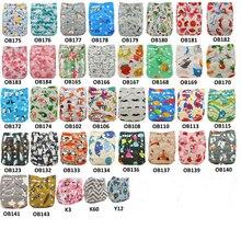 Ohbabyka, детские тканевые подгузники, Мультяшные животные, детский подгузник с карманом, подгузник, чехол для детского душа, подарок, многоразовые подгузники для детей 0-3 лет