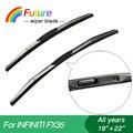 """1 set Wiper blades for Infiniti FX35(2003-2008),19""""+22"""",car wiper,3 Section Rubber, windscreen wiper, Car accessory"""