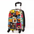 New 18 inch Cartoon Children Luggage Kid Suitcase,Child Boy Girl Princess Cat ABS Trolley Case Box