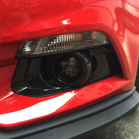 Free Shipping High Quality Carbon Fiber Front Fog Lamps Cover Trim Fog Lamp Shade Trim For