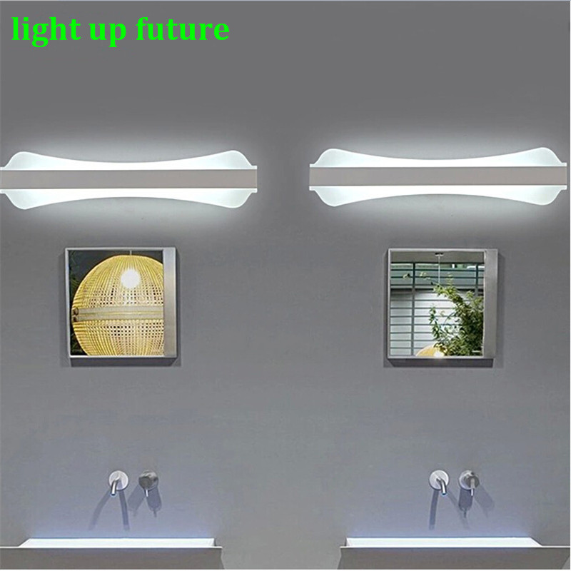 40cm/12W Acryl Aluminum Led Wall Lamp Mirror Light for Bathroom Aisle Living Room Waterproof Anti-fog Mirror Lamps 2131 modren acryl led mirror wall lamp waterproof and anti fog dressing room makeup mirror light fixture for bathroom toilet