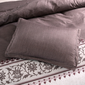 Image 5 - Brown Color Brief Floral Duvet Cover Set Bed Set Twin Double Queen size Bed linen Bedclothes bedding sets(No Sheet No Filling)