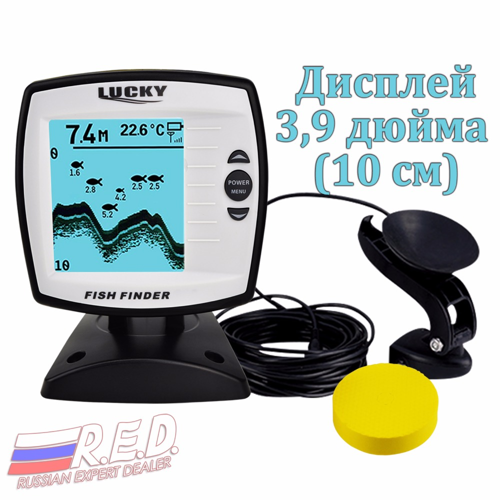 Lucky FF-918 N1 Russian Version Depth 100 m Original from Lucky plant with display 3.9 inch Rechargeable Battery эхолот lucky ffw718li