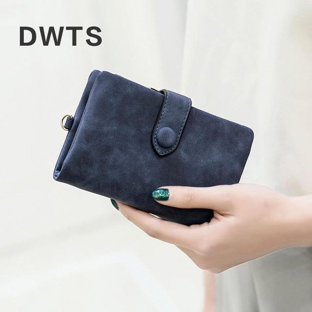 Wallet Female Leather Wallet Matte Wallet Short Cartera Mujer Cute Tri-fold Multi-card Female Wallet 4