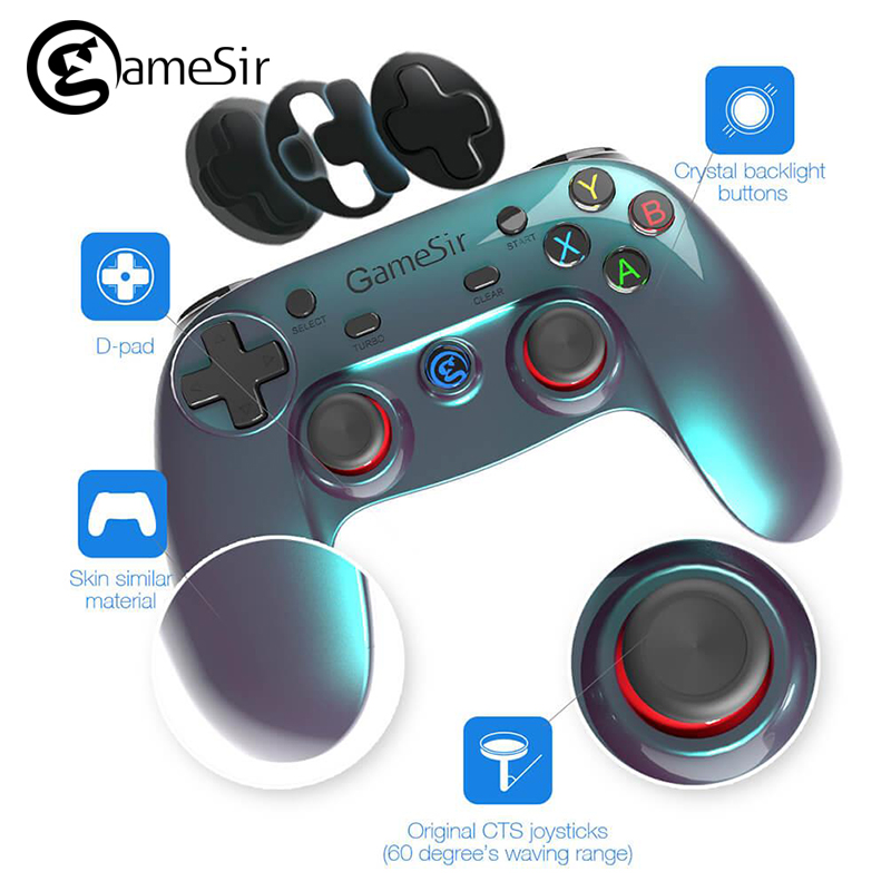 GameSir G3v Wireless Bluetooth Gamepad Controller Phone Controller for iOS iPhone Android Phone TV Android BOX Tablet PC VR Game gamesir g3v wireless bluetooth controller phone controller for ios iphone android phone tv android box tablet pc vr games