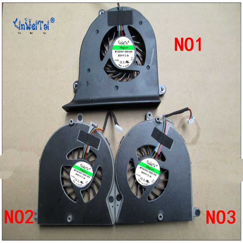 USED FAN Dual Graphics Cards Cooling Fans Cooler Left AND Right Video Card Fan for Dell <font><b>Alienware</b></font> <font><b>M17X</b></font> <font><b>R1</b></font> R2 CPU FAN image