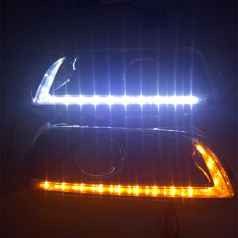 LED DRL Daytime Running Light For Chevrolet Malibu   2011 2012 2013 2014 2015 with Fog Lamp hole with Turning light Function led drl daytime running lights for hyundai tucson ix35 2010 2011 2012 2013 with fog lamp light hole quality assured