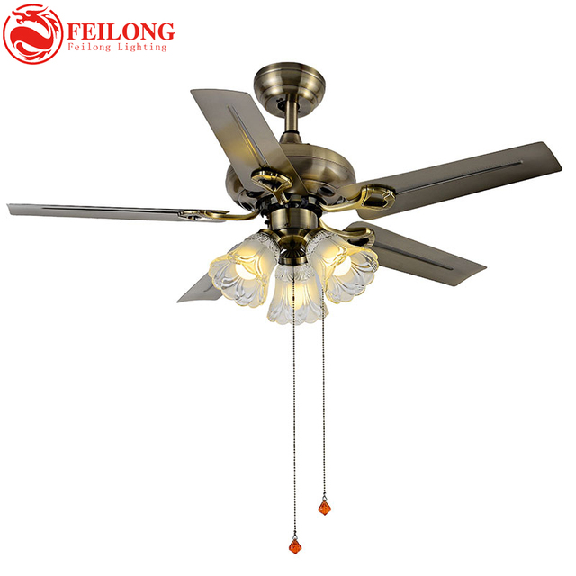 Iron Brown Blades Super Cool Ceiling Fan Light 4201 Blz Indoor With Kit