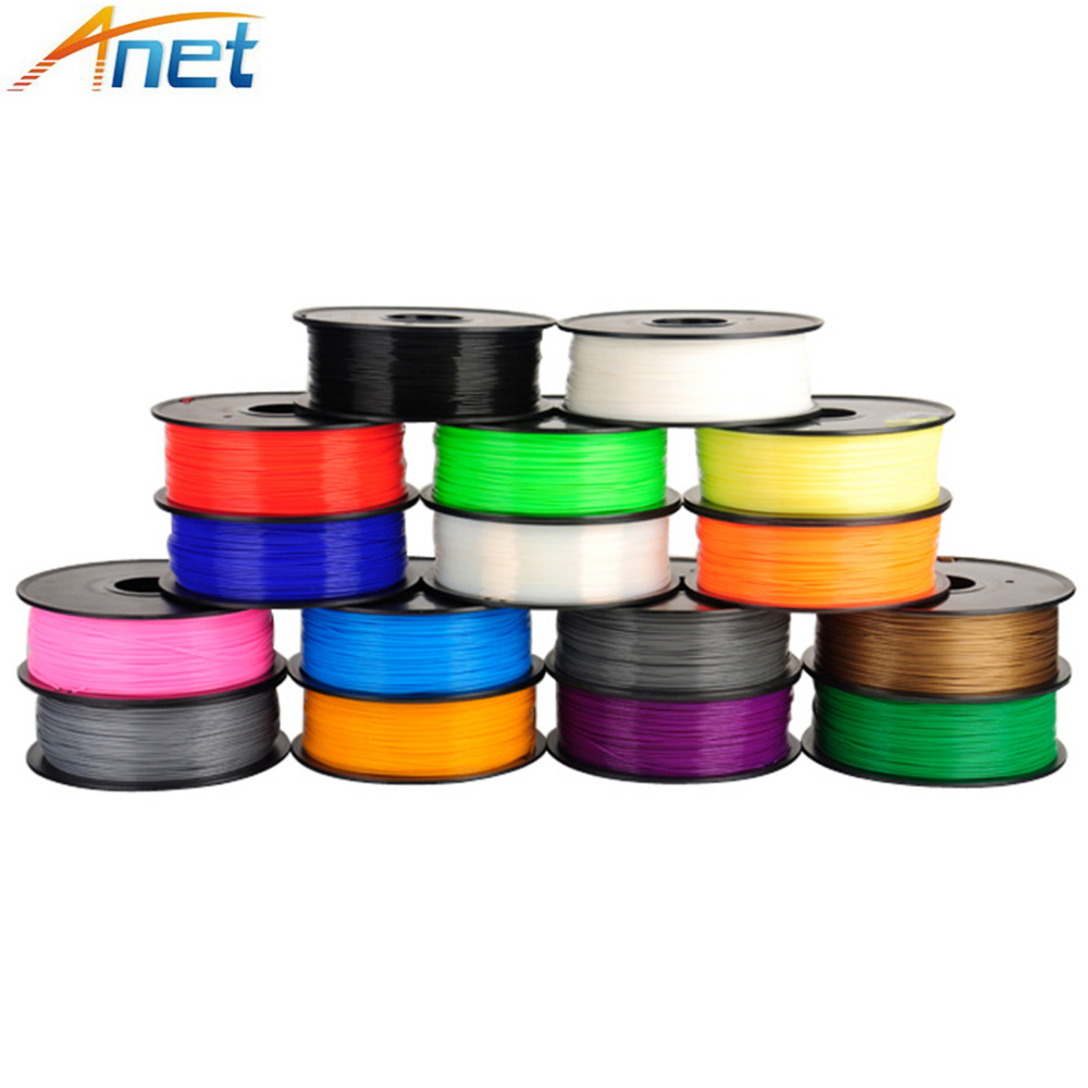 2roll/lot 1kg/roll Anet 1.75mm ABS/PLA Filament 3D Printer Filament Plastic Rubber Consumables Material 3d printer parts filament for makerbot reprap up mendel 1 rolls filament pla 1 75mm 1kg consumables material for anet 3d printer