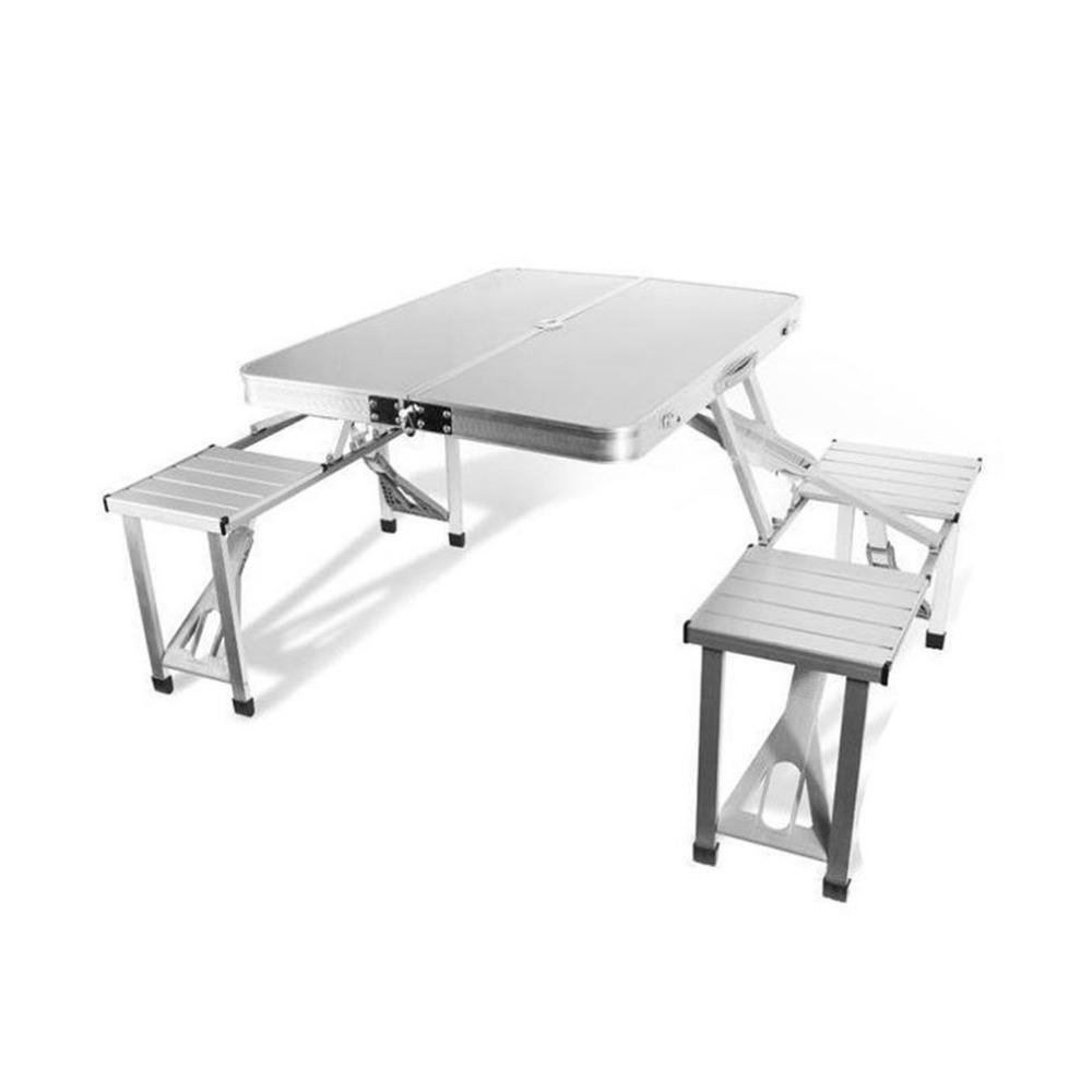 Outdoor BBQ Table Folding Tourist Table For a Hike Combination Set Portable Lightweight For Camping hiking Aluminum Alloy outdoor folding tables and chairs combination set portable lightweight for picnic bbq camping aluminum alloy easy fold up
