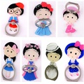 360 Ring Holder Stand 3D Cartoon Support Finger Bracket Smart Phones Princess Chibi Maruko-chan Lip Bow Perfume Bottle Butterfly