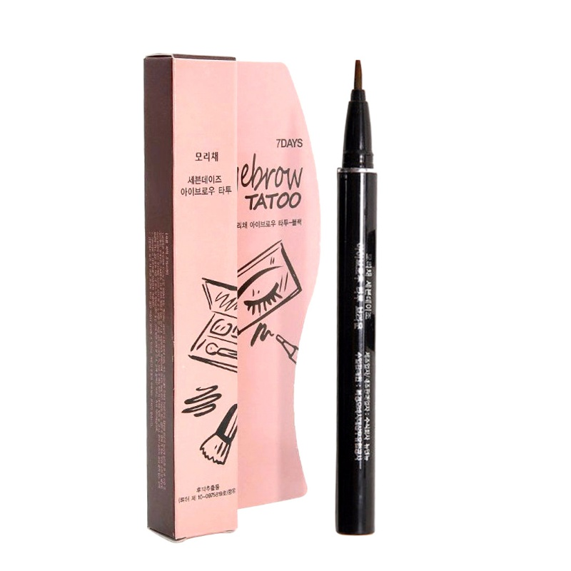 Eyebrow Enhancers Women Makeup Product Waterproof Brown 7 Days Eye Brow Eyebrow Tattoo Pen Liner Long Lasting Makeup image